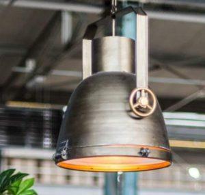 Industriele Hanglamp Grijs/Brons Woonaccessoires countryfield