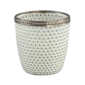 Femke Tealight round L Wit/Bulb Woonaccessoires PTMD