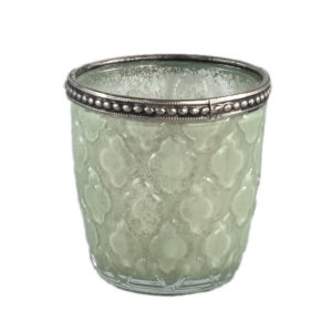Femke Tealight glass/green Antique Woonaccessoires PTMD