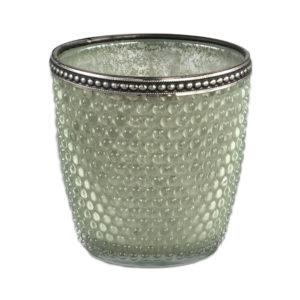 Femke Tealight glass/green bulb S Woonaccessoires PTMD