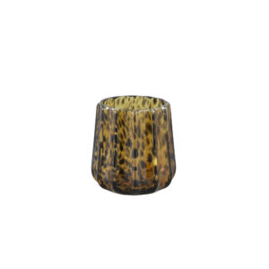 Windlicht Panter/Bruin Ribbed S Woonaccessoires PTMD