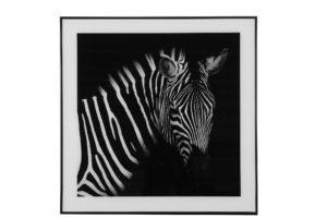 Schilderij Zebra S Zwart/Wit Woonaccessoires countryfield