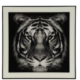 Schilderij tijger S Zwart/Wit Woonaccessoires countryfield