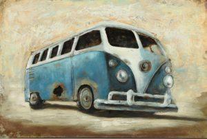 Schilderij VW busje Woonaccessoires countryfield