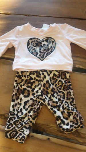Baby Panterpakje Hart Maat 80 Baby