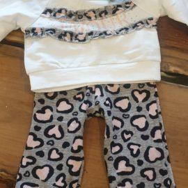 Babypakje Panter Grijs Maat 74 Baby