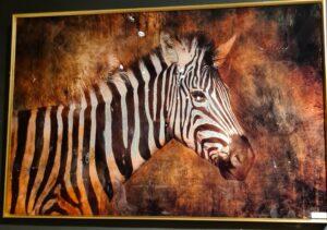 PTMD Schilderij Zebra Wanddecoratie