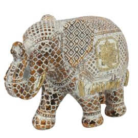 Olifant Fedor Goud/ Roest XL Woonaccessoires countryfield