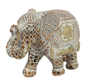 Olifant Fedor Goud/ Roest L Woonaccessoires countryfield