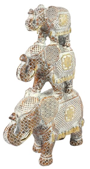 Olifant Piramide Goud / Roest Woonaccessoires countryfield