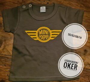 T shirt Mini Pooper maat 56 Baby