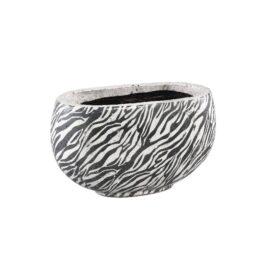Zebra Keramiek Pot L Woonaccessoires PTMD