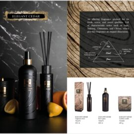 PTMD Elements Fragrance Kaars Elegant Cedar Woonaccessoires PTMD
