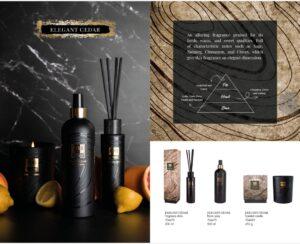 PTMD Elements Fragrance Geurstokjes Elegant Cedar Woonaccessoires PTMD