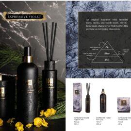 PTMD Elements Fragrance Kaars Expressive Violet Woonaccessoires PTMD