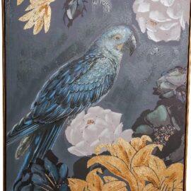 Canvas Schilderij Bird Dark Night Woonaccessoires PTMD