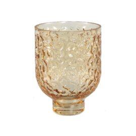 Wriggle Brown Sprayed Glass Vase L windlichten