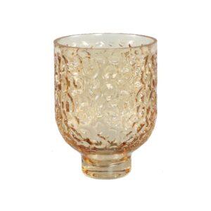 Wriggle Brown Sprayed Glass Vase S windlichten