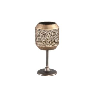 Janell Gold Metal Candleholder S Woonaccessoires PTMD