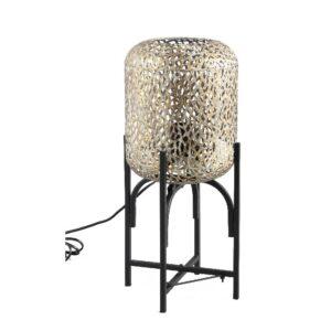 Jaimey Gold Metalen Tafel Lamp Panther on Black Woonaccessoires PTMD