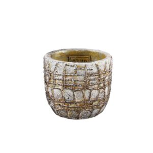 Albin White Cement Pot L Woonaccessoires PTMD