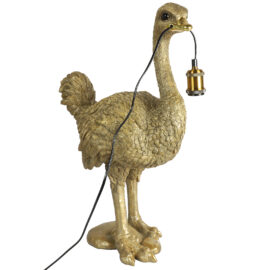 Tafellamp Struisvogel Goud Woonaccessoires countryfield
