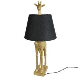Tafellamp Giraf met Kap Goud Woonaccessoires countryfield