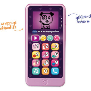 Bel & Tel Puppy Telefoon Roze Vtech